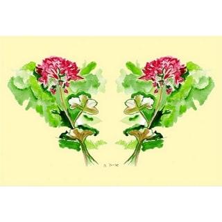 Garden Geraniums Polyester Door Mat