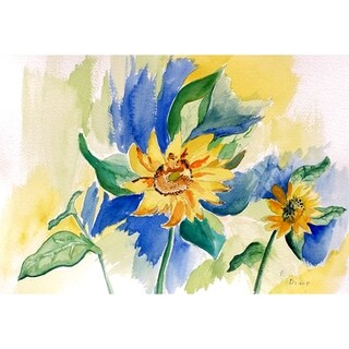 Betsy Drake Garden Sunflower Doormat