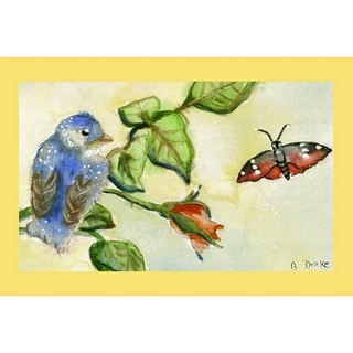 Shop Garden Blue Bird Door Mat Free Shipping On Orders