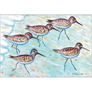 Betsy Drake Coastal Sandpipers Multicolored Polyester Door Mat