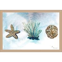 Betsy Drake Coastal Blue Coral Doormat