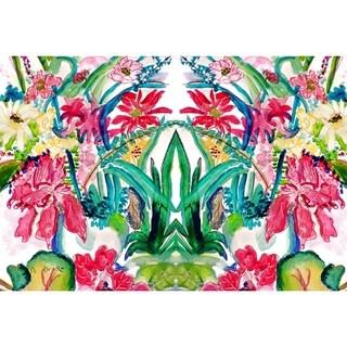 Betsy Drake Garden Multicolored Florals Doormat