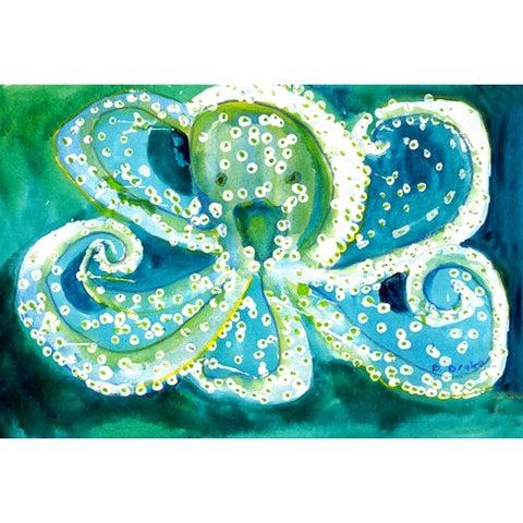 Betsy Drake Coastal Octopus Polyester Door Mat