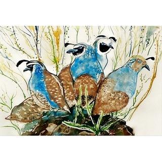 Betsy Drake Garden Partridges Doormat