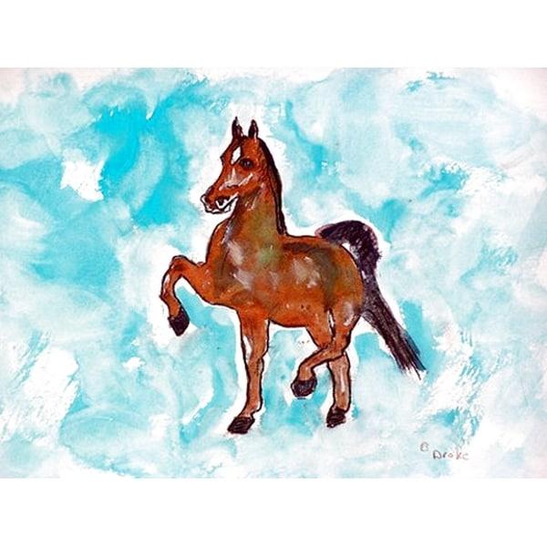Merveilleux Betsy Drake Polyester Dancing Horse Door Mat