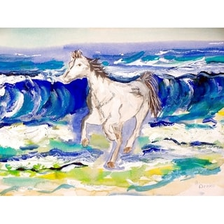 Betsy Drake Coastal Horse & Surf Door Mat