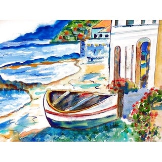 Coastal Sicilian Shore Multicolor Polyester Door Mat
