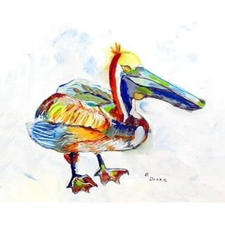 Betsy Drake Heathcliff Pelican Polyester Door Mat