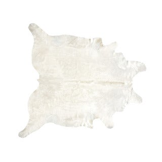 Natural off-white Cowhide Rug (6' x 6') (Brazil)