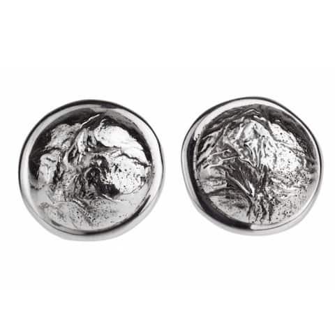 Handmade Sterling Silver 'Crumpled Spheres' Earrings (Mexico)