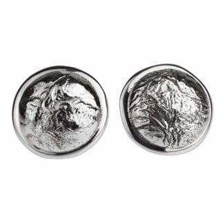 Handcrafted Sterling Silver 'Crumpled Spheres' Earrings (Mexico)