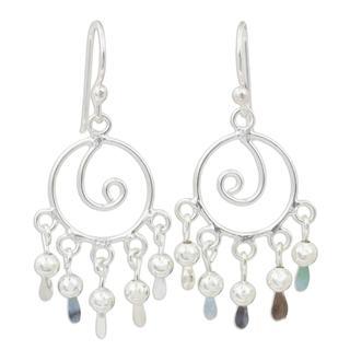 Handmade Sterling Silver 'Fancy' Earrings (Thailand)