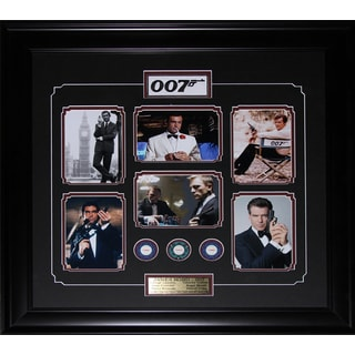 James Bond 007 Movie Compilation Poker Chips Frame