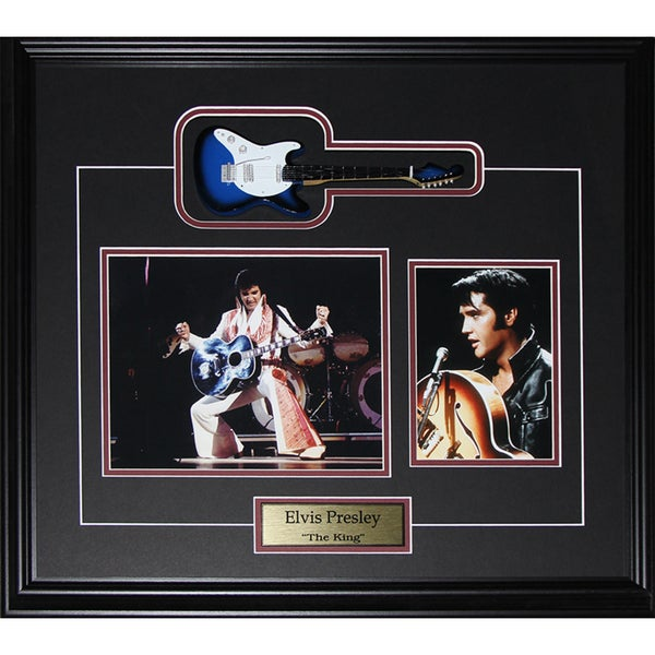Elvis Presley The King Miniature Guitar 2-photo Frame