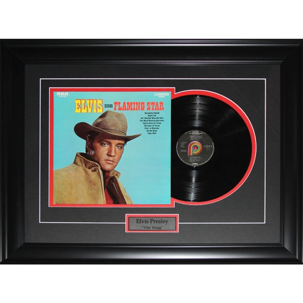 Elvis Presley The King Album Frame