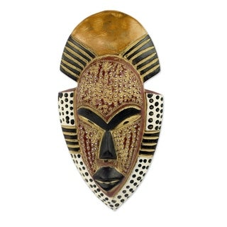 Handmade Happiness Wood Mask (Ghana)