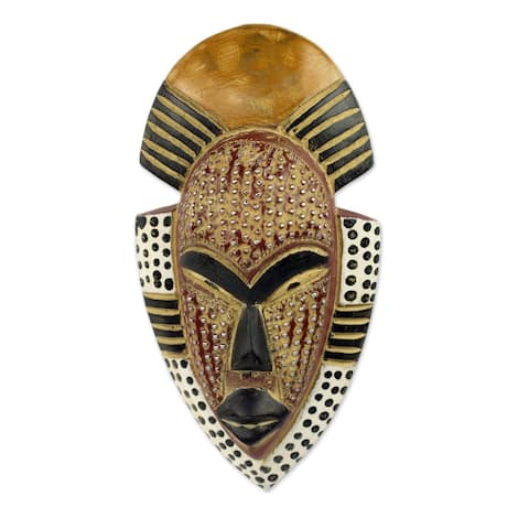 African Wood Ghana's Happiness Mask
