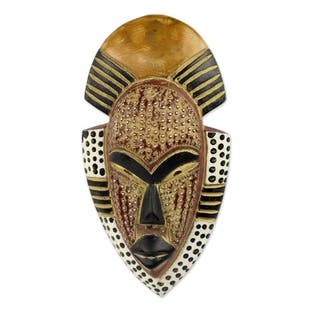 Handcrafted African Wood 'Ghana's Happiness' Mask (Ghana)|https://ak1.ostkcdn.com/images/products/12005599/P18882852.jpg?impolicy=medium
