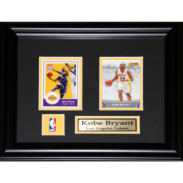 Kobe Bryant Los Angeles Lakers 2-card Frame
