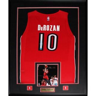 Demar Derozan Toronto Raptors Signed Jersey Frame
