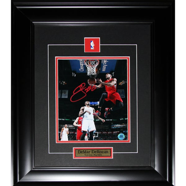 Demar Derozan Toronto Raptors Signed 8x10-inch Frame