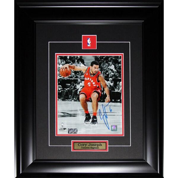 Corey Joseph Toronto Raptors Signed 8x10-inch Frame