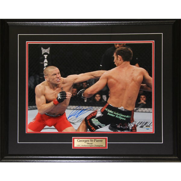 Georges St-Pierre UFC Signed 16x20-inch Frame