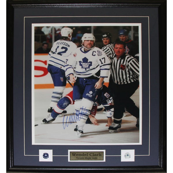 Wendel Clark Toronto Maple Leafs Signed 16x20-inch Frame