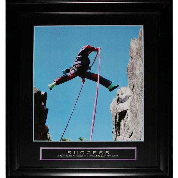 Success Mountain Climbing Motivational Large Frame
