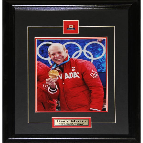 Kevin Martin Team Canada Gold Medal Curling 8x10-inch Frame