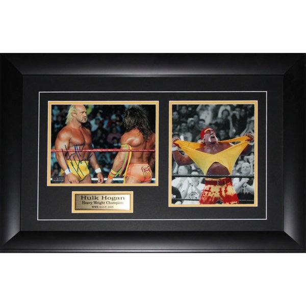 Hulk Hogan Wwe Wrestling Signed 2-photo Frame
