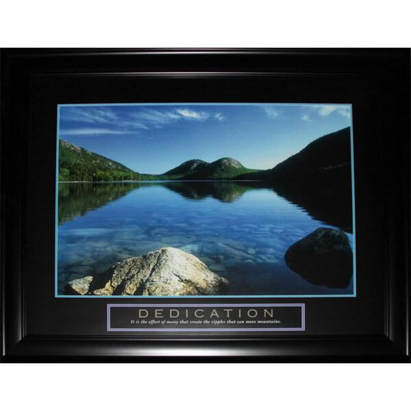 Dedication Peaceful Water Lake Motivational Large Frame