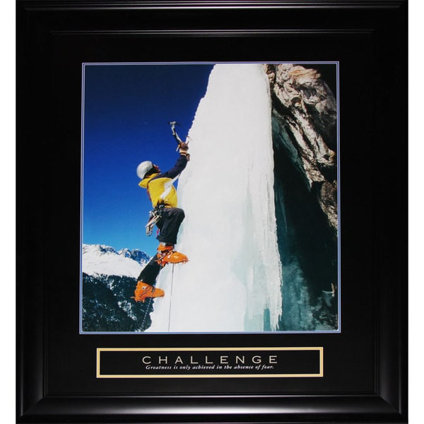 Challenge Ice Cliffhanger Motivational Large Frame