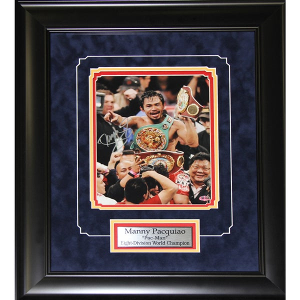 Manny Pacquiao Boxing Signed 8x10-inch Frame