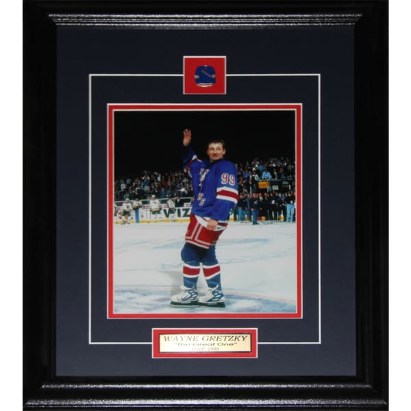 Wayne Gretzky New York Rangers Final Game 8x10-inch Frame