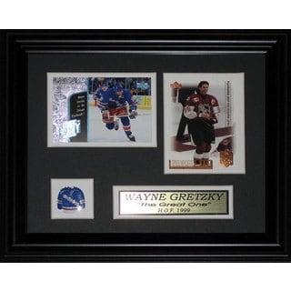 Wayne Gretzky New York Rangers 2-card Frame