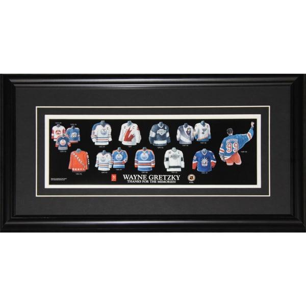 Wayne Gretzky Jersey Evolution Frame