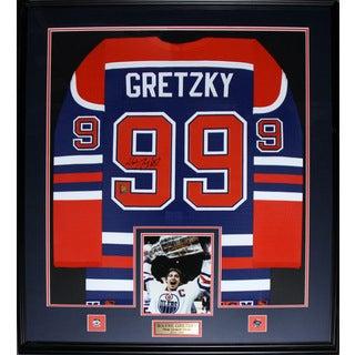 Wayne Gretzky Edmonton Oilers Signed Jersey Frame