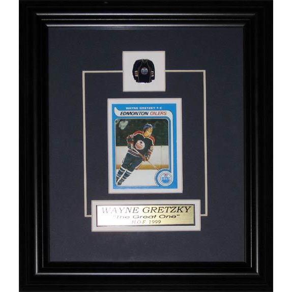 Wayne Gretzky Edmonton Oilers Replica Rookie Card Frame