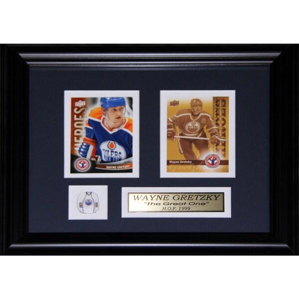 Wayne Gretzky Edmonton Oilers 2-card Frame
