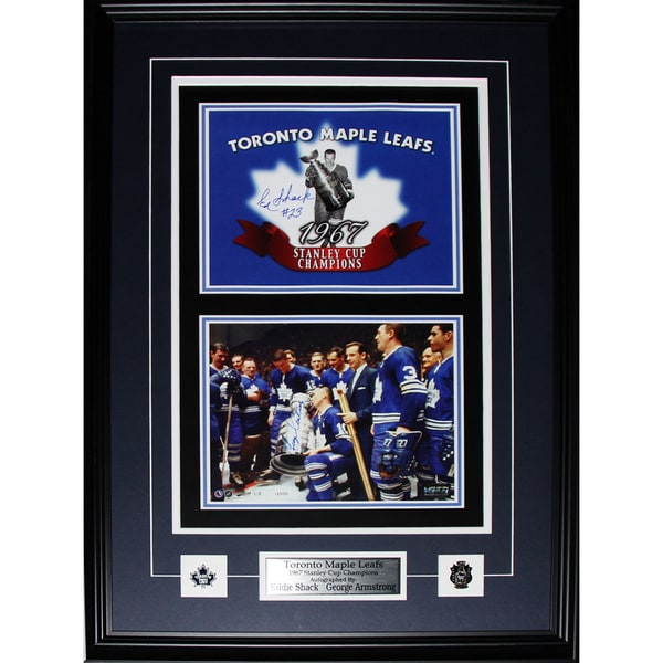 Toronto Maple Leafs 1967 Stanley Cup 2-photo Signed By George Armstrong and Eddie Shack