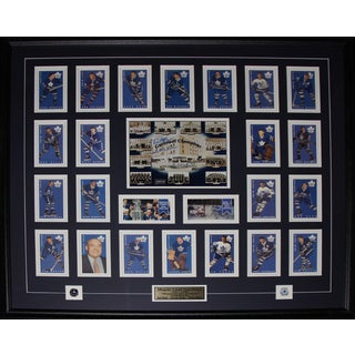 Toronto Maple Leaf Gardens with Card Set Signed By Red Kelly Johnny Bower Eddie Shack