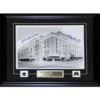 Toronto Maple Leaf Gardens 11x14 Signed By Bower and Baun Frame