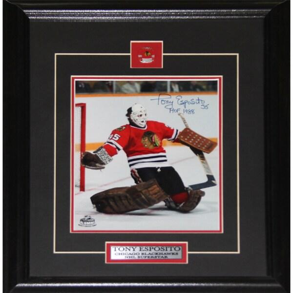 Tony Esposito Chicago Blackhawks Signed 8x10-inch Frame