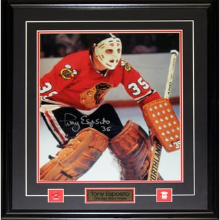 Tony Esposito Chicago Blackhawks Signed 16x20-inch Frame