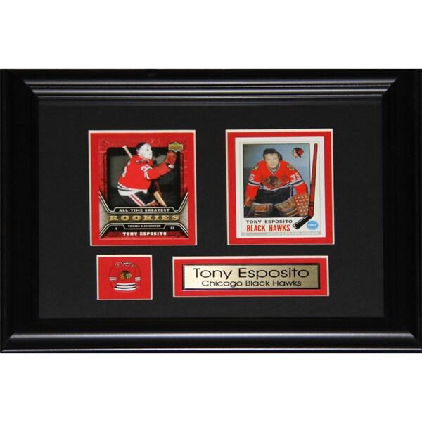 Tony Esposito Chicago Blackhawks 2-card Frame