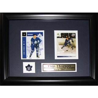 Tim Horton Toronto Maple Leafs 2-card Frame