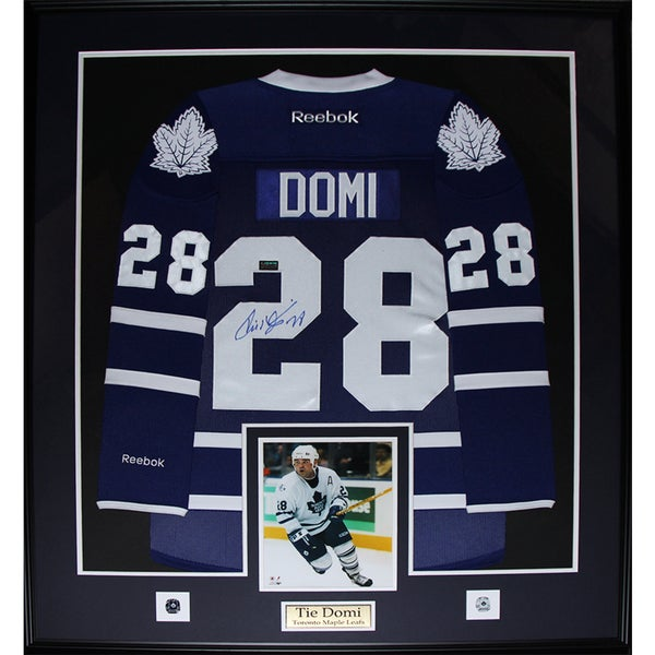 Tie Domi Toronto Maple Leafs Signed Jersey Frame