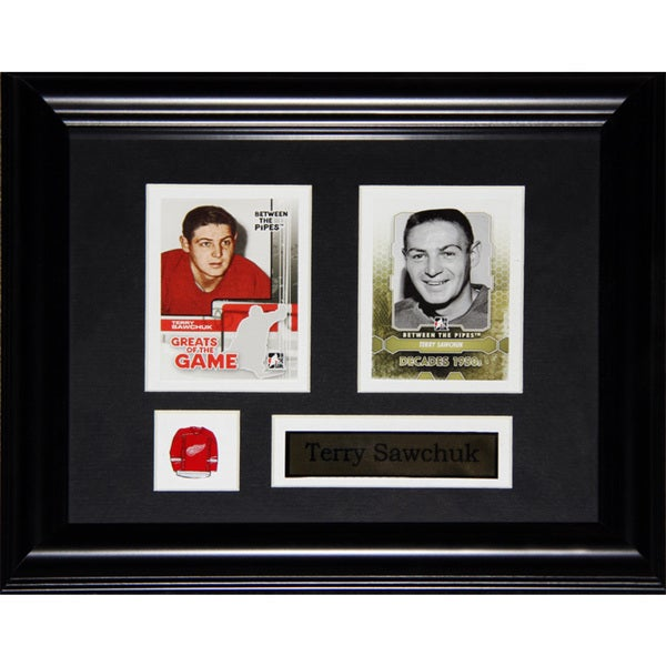 Terry Sawchuk Detroit Red Wings 2-card Frame