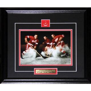 Ted Lindsay Sid Abel Gordie Howe Detroit Red Wings 8x10-inch Frame